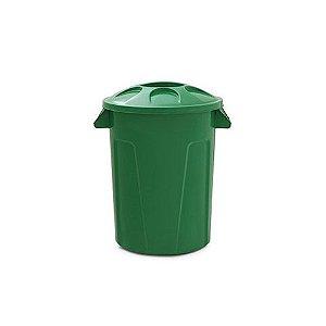 Cesto para lixo 60 litros com tampa Verde