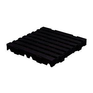 Estrado plástico 40x40cm preto