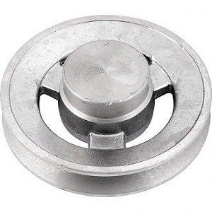 Polia de alumínio 1 canal A - 100 mm - Mademil