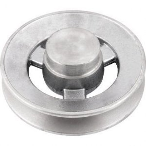 Polia de alumínio 1 canal B - 100 mm - Mademil