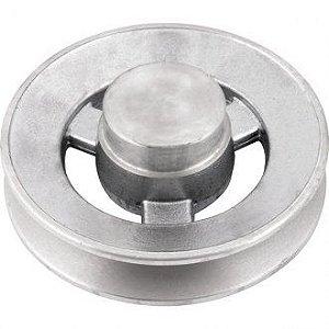 Polia de alumínio 1 canal B - 110 mm - Mademil