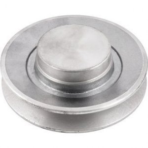Polia de alumínio 1 canal B - 125 mm - Mademil