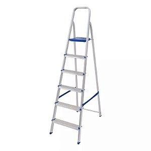 Escada em Alumínio 6 Degraus MOR