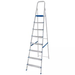 Escada em alumínio 8 degraus - MOR