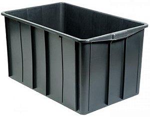Caixa plástica 180 litros preta