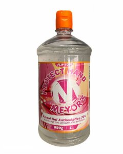 Álcool Gel Antisséptico para mãos 70% INPM 1L com tampa flip-top - Meyors