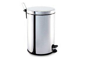 Lixeira em aço inox com pedal e balde interno 20 litros - Brinox