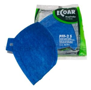 Máscara Descartável PFF2 N95 CA 38811 Sem Válvula Ecoar Azul Plastcor