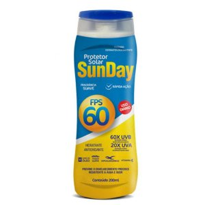 Protetor Solar FPS 60 Sunday 200ml - Nutriex