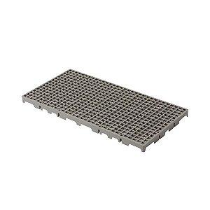 Estrado plástico 50x25cm cinza