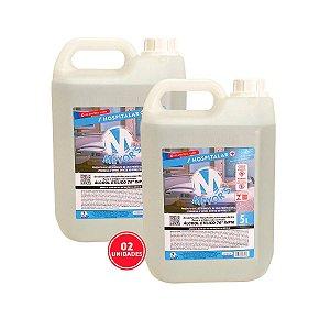 2 UN Álcool Líquido Etílico Hidratado 70° INPM 5L Meyors