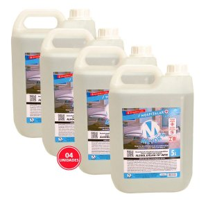 4 UN Álcool Líquido Etílico Hidratado 70° INPM 5L Meyors