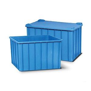 Caixa plástica fechada 301 litros