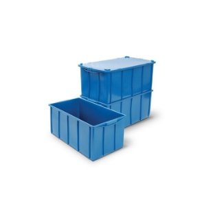 Caixa plástica fechada 70 litros