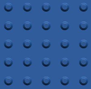 Kit 10 Piso Tátil Alerta 25x25cm em PVC Azul