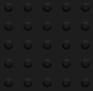 Kit 10 Piso Tátil Alerta 25x25cm em PVC Preto