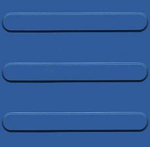 Kit 10 Piso Tátil Direcional 25x25cm em PVC Azul