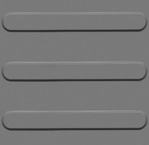 Kit 10 Piso Tátil Direcional 25x25cm em PVC Cinza