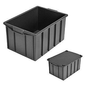 Caixa plástica fechada 130 litros