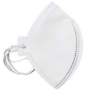 Kit com 10 Máscaras Descartáveis Pff2 N95 CA 38811 Sem Válvula Branca Plastcor