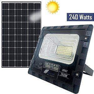 Refletor Solar Holofote 240w Com Placa Branco Frio Ip67 - 81371
