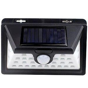 Luminária Solar de Parede 32 Leds 30w Sensor de Presença Acendimento Automático - 81508