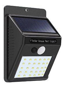 Luminária Arandela de Parede Solar 10w 25 Leds - 81300