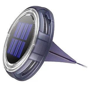 Lâmpada de Solo 16w Solar 8 Leds Balizador Branco Frio Externo IP68 - 81507