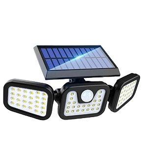 Luminária Solar LED de Parede Externa 30W 94 Leds Acendimento Automático IP67 - 81357