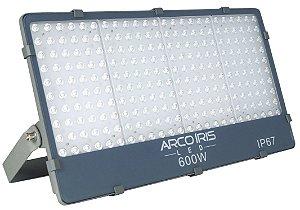 Refletor Holofote Microled 600w Branco Frio IP67 - 82726