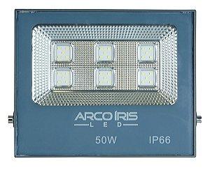 Refletor Super LED 50W Bivolt Bco Frio Multifocal - 61001
