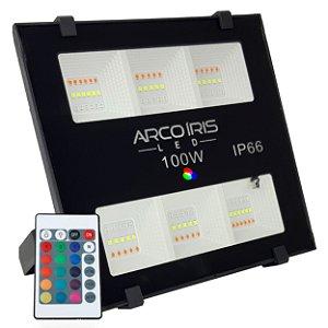 Refletor Led 100w Rgb Colorido Microled SMD IP66 Bivolt - 82729