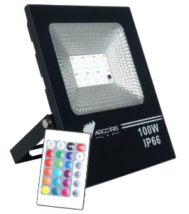 Refletor Led Floodlight 100w Rgb Bivolt Ip66 - 82938