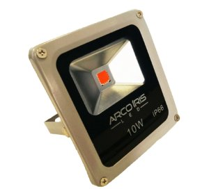 Refletor LED 10W Bivolt Prova D'Água Ip66 Vermelho - 81739