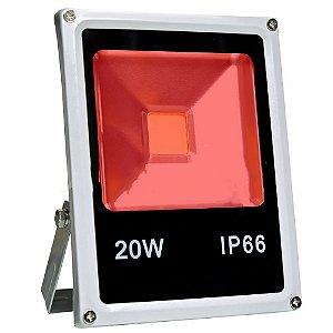 Refletor Holofote 20W Vermelho IP66 - 81740