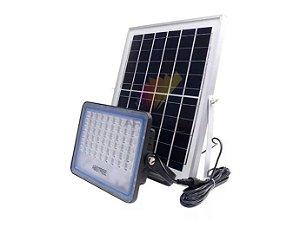 Refletor De Led 120w + Placa Solar C/ Controle Ip67 - 82919
