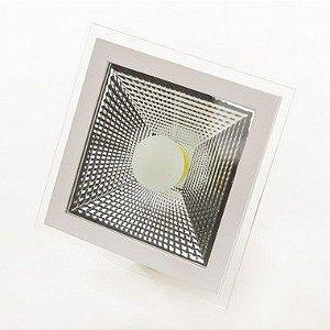 SPOT DE LED COB 10w  DOWN LIGHT BRANCO FRIO QUADRADO - 80909