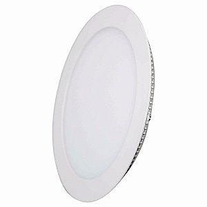 Plafon Led  18w Redondo Branco Quente Embutir Ultra Slim - 81333-1
