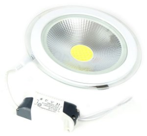 Spot Led Cob Down Light 15w Redondo Branco Frio - 81316-1