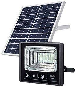 Refletor Led 60w 6000k Com Placa Solar 20w - 82179