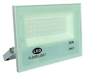Refletor Microled Smd 50w Flood Light Bivolt Ip67 Branco - 82990