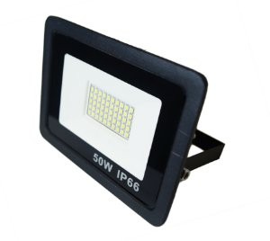 Refletor Led Mini 50W IP66 Branco Frio Bivolt Preto - 66004-1
