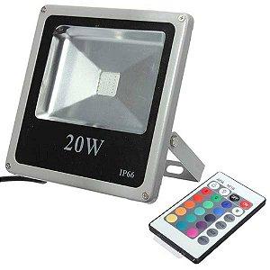 REFLETOR DE LED 20W RGB COLORIDO BIVOLT IP66 - 81352