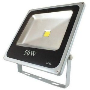 Refletor Holofote Led 50w IP66 Branco Frio Cinza- 81310