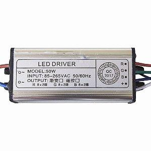 Reator Driver de Reposição para Refletor Led 50w RGB Colorido - 83118
