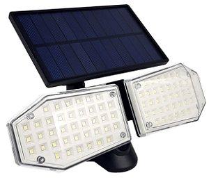 Luminária Solar De Parede Led 20w Externa Ip65 Articulada Preto - 82194