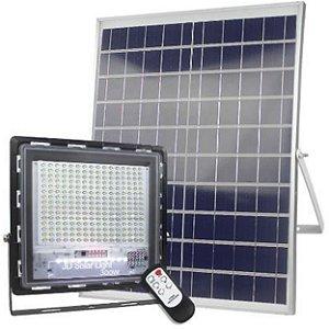 Refletor Led 300w + Placa Solar Ip67 Acendimento Automático - 81674