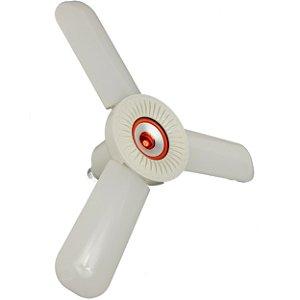 Lâmpada LED 36W RGBW Colorida Fan Blade Bivolt com Controle - Vermelho - 82294