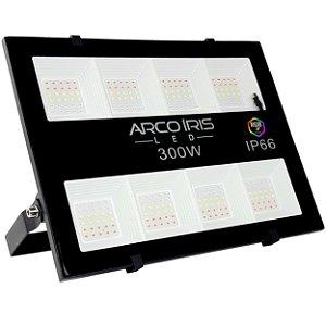 Refletor Colorido Rgb Led 300w Iluminação Externa Fachadas Preto - 81666