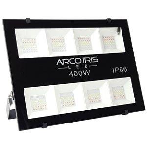 Refletor Led 400w Colorido Rgb Ip66 Área Externa + Controle - Preto - 81981
